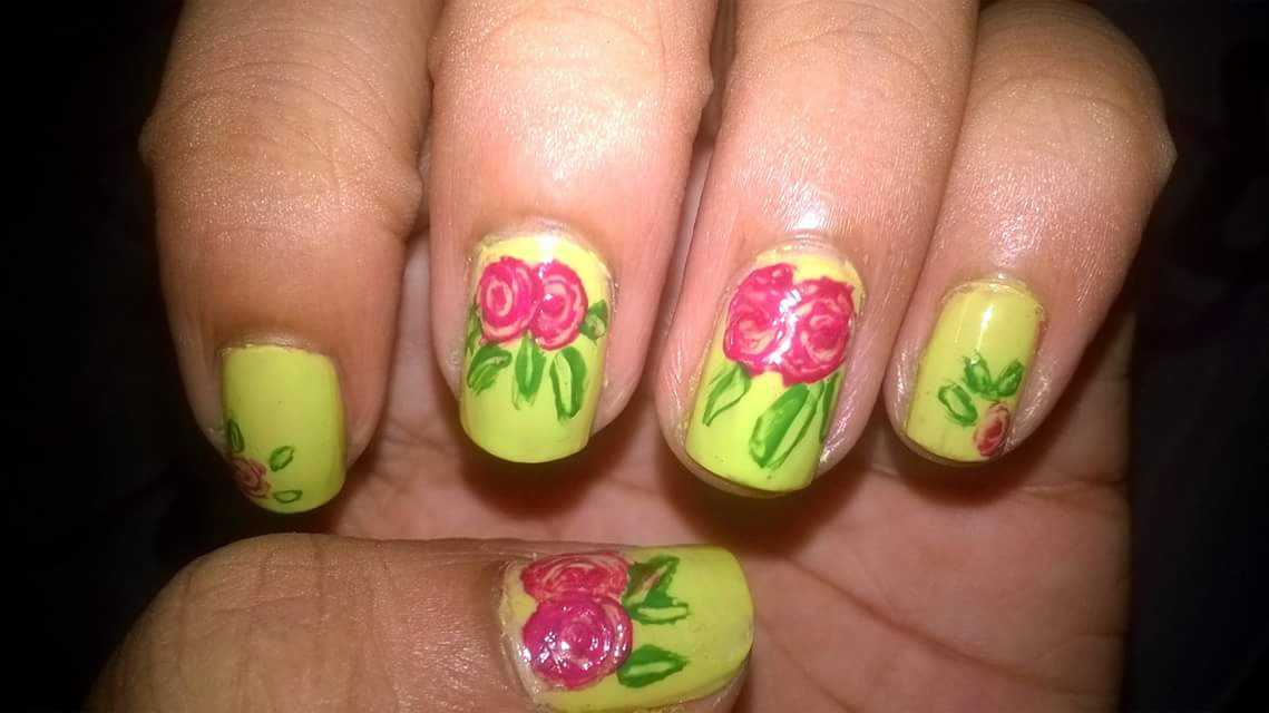 Twin Roses On Your Yellow Nails