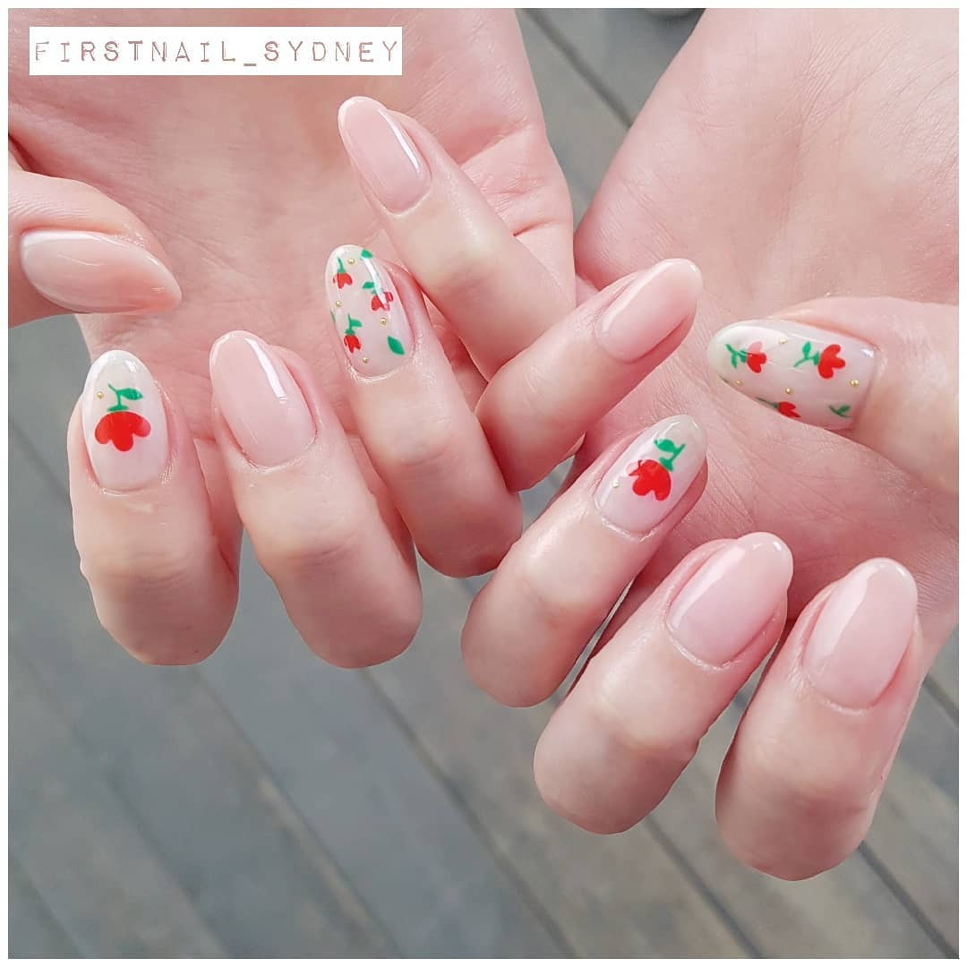 Easy DIY Floral Nail Art for Long Nails