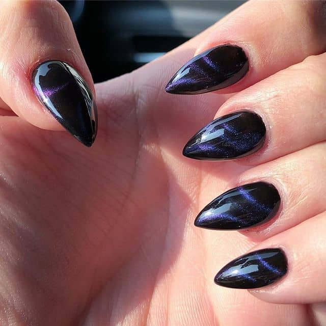 Black Mountain Peak Nails with Marbles