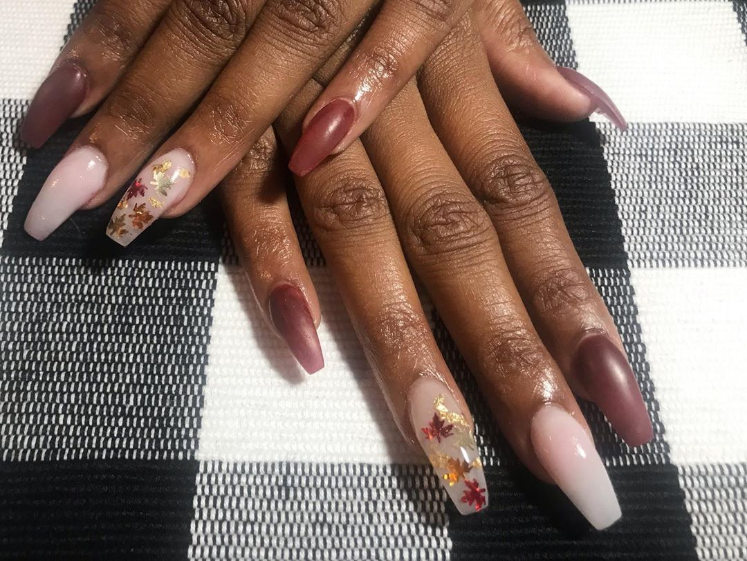 fall ombre nails (2)