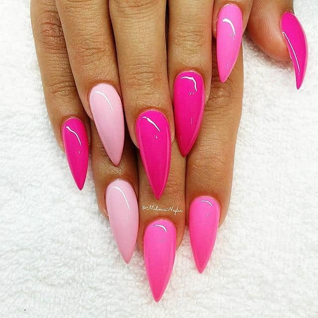 pink Stiletto Nail Ideas