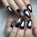 25 Elegant Black & Silver Nail Designs in 2020