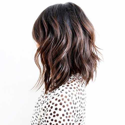 Short Layered Wavy Lob Hairstyles
