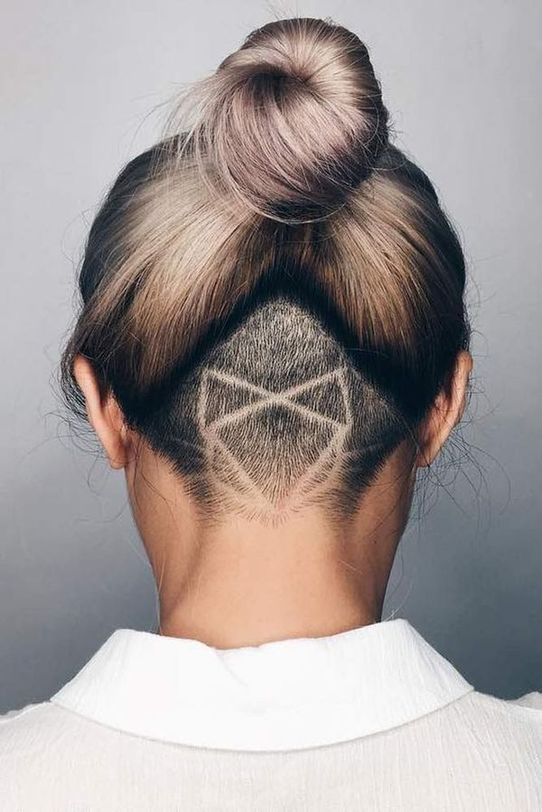 Cool female hairstyles with undercut designs 1