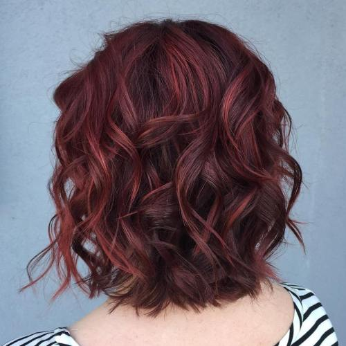 Burgundy Highlights on Brown Hair 1