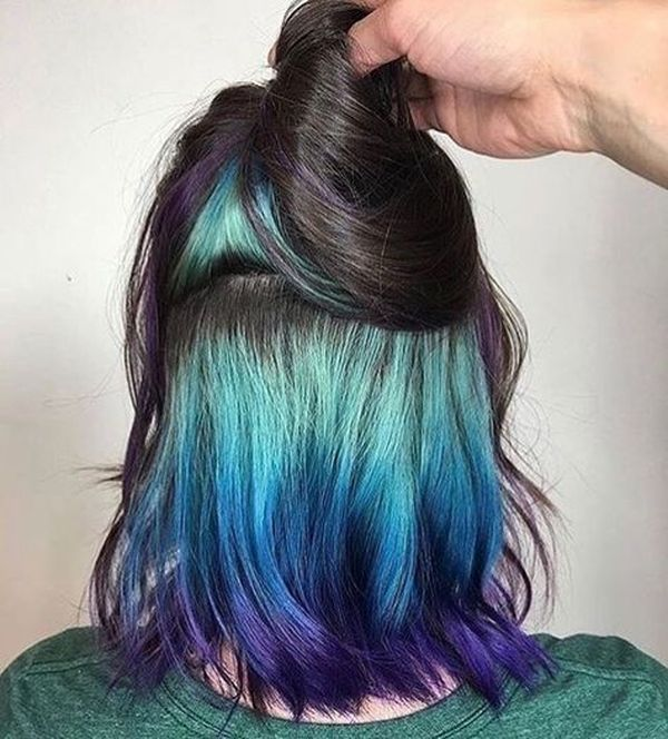 Impressive Hidden Hair Color for Short Hair 3