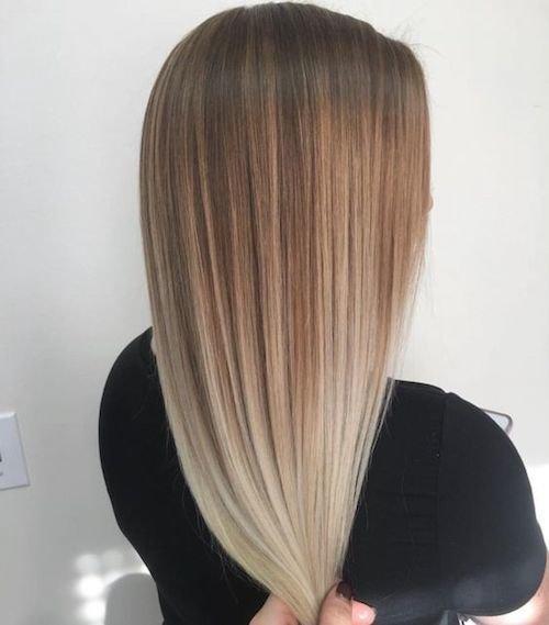 balayage brown blone