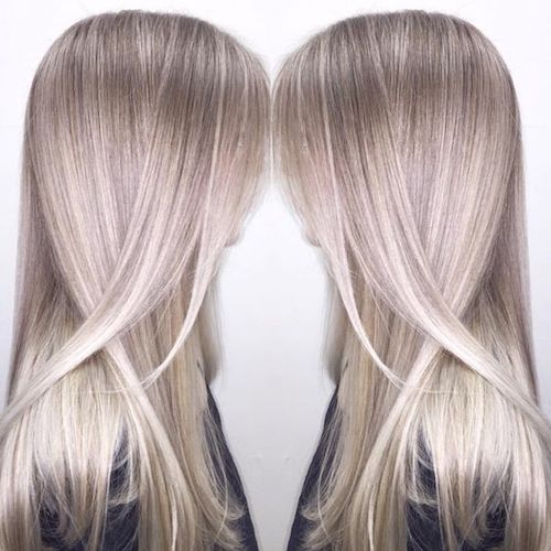 balayage ash blonde hair